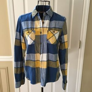 American Eagle Yellow/Blue Plaid Shirt